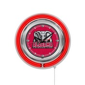 Alabama Double Neon Ring, Logo Clock by Holland Bar Stool Company