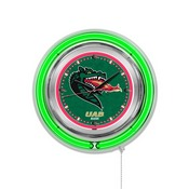 UAB Double Neon Ring, Logo Clock by Holland Bar Stool Company