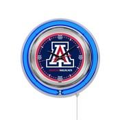 Arizona Double Neon Ring, Logo Clock by Holland Bar Stool Company