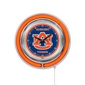 Auburn Double Neon Ring, Logo Clock by Holland Bar Stool Company