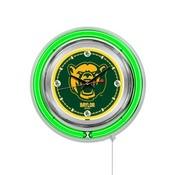 Baylor Double Neon Ring, Logo Clock by Holland Bar Stool Company