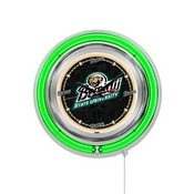 Bemidji State Double Neon Ring, Logo Clock by Holland Bar Stool Company