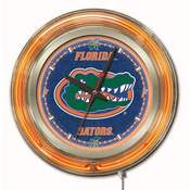 Florida Double Neon Ring, Logo Clock by Holland Bar Stool Company