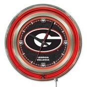 Georgia G Double Neon Ring, Logo Clock by Holland Bar Stool Company