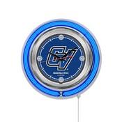 Grand Valley State Double Neon Ring, Logo Clock by Holland Bar Stool Company