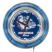 Gonzaga Double Neon Ring, Logo Clock by Holland Bar Stool Company