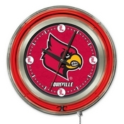 Louisville Double Neon Ring, Logo Clock by Holland Bar Stool Company