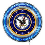 U.S. Navy Double Neon Ring, Logo Clock by Holland Bar Stool Company