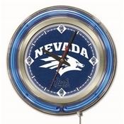 Nevada Double Neon Ring, Logo Clock by Holland Bar Stool Company