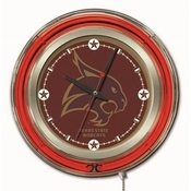 Texas State Double Neon Ring, Logo Clock by Holland Bar Stool Company