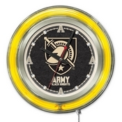US Military Academy (ARMY) Double Neon Ring, Logo Clock by Holland Bar Stool Company