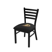 L00418 Black Wrinkle Anaheim Ducks Stationary Chair with Ladder Style Back by Holland Bar Stool Co.