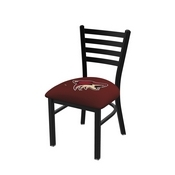 L00418 Black Wrinkle Arizona Coyotes Stationary Chair with Ladder Style Back by Holland Bar Stool Co.