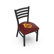 L00418 Black Wrinkle Arizona State Stationary Chair with Ladder Style Back and Sparky Logo by Holland Bar Stool Co.