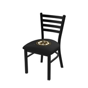 L00418 Black Wrinkle Boston Bruins Stationary Chair with Ladder Style Back by Holland Bar Stool Co.