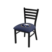 L00418 Black Wrinkle Buffalo Sabres Stationary Chair with Ladder Style Back by Holland Bar Stool Co.