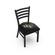 L00418 Black Wrinkle Central Florida Stationary Chair with Ladder Style Back by Holland Bar Stool Co.