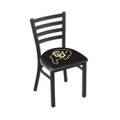 L00418 Black Wrinkle Colorado Stationary Chair with Ladder Style Back by Holland Bar Stool Co.