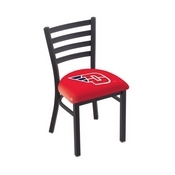 L00418 Black Wrinkle University of Dayton Stationary Chair with Ladder Style Back by Holland Bar Stool Co.