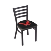 L00418 Black Wrinkle Eastern Washington Stationary Chair with Ladder Style Back by Holland Bar Stool Co.