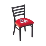 L00418 Black Wrinkle Fresno State Stationary Chair with Ladder Style Back by Holland Bar Stool Co.