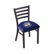 L00418 Black Wrinkle Georgetown Stationary Chair with Ladder Style Back by Holland Bar Stool Co.