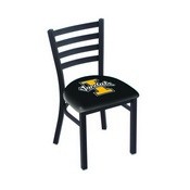 L00418 Black Wrinkle Idaho Stationary Chair with Ladder Style Back by Holland Bar Stool Co.