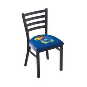 L00418 Black Wrinkle Kansas Stationary Chair with Ladder Style Back by Holland Bar Stool Co.