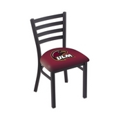 L00418 Black Wrinkle Louisiana-Monroe Stationary Chair with Ladder Style Back by Holland Bar Stool Co.