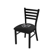 L00418 Black Wrinkle Los Angeles Kings Stationary Chair with Ladder Style Back by Holland Bar Stool Co.
