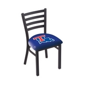 L00418 Black Wrinkle Louisiana Tech Stationary Chair with Ladder Style Back by Holland Bar Stool Co.