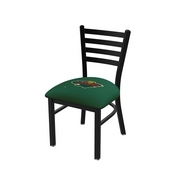 L00418 Black Wrinkle Minnesota Wild Stationary Chair with Ladder Style Back by Holland Bar Stool Co.