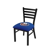 L00418 Black Wrinkle New York Islanders Stationary Chair with Ladder Style Back by Holland Bar Stool Co.