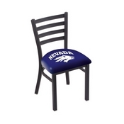 L00418 Black Wrinkle Nevada Stationary Chair with Ladder Style Back by Holland Bar Stool Co.