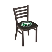 L00418 Black Wrinkle North Dakota Stationary Chair with Ladder Style Back by Holland Bar Stool Co.