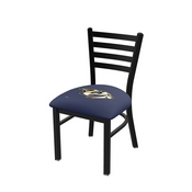 L00418 Black Wrinkle Nashville Predators Stationary Chair with Ladder Style Back by Holland Bar Stool Co.