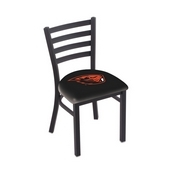 L00418 Black Wrinkle Oregon State Stationary Chair with Ladder Style Back by Holland Bar Stool Co.