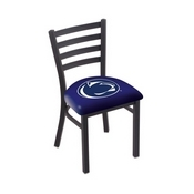 L00418 Black Wrinkle Penn State Stationary Chair with Ladder Style Back by Holland Bar Stool Co.