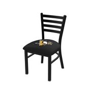 L00418 Black Wrinkle Pittsburgh Penguins Stationary Chair with Ladder Style Back by Holland Bar Stool Co.