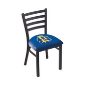 L00418 Black Wrinkle South Dakota State Stationary Chair with Ladder Style Back by Holland Bar Stool Co.