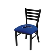 L00418 Black Wrinkle St Louis Blues Stationary Chair with Ladder Style Back by Holland Bar Stool Co.