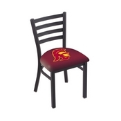 L00418 Black Wrinkle USC Trojans Stationary Chair with Ladder Style Back by Holland Bar Stool Co.