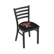 L00418 Black Wrinkle Texas Tech Stationary Chair with Ladder Style Back by Holland Bar Stool Co.