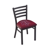 L00418 Black Wrinkle Texas A&M Stationary Chair with Ladder Style Back by Holland Bar Stool Co.