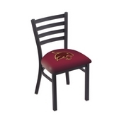 L00418 Black Wrinkle Texas State Stationary Chair with Ladder Style Back by Holland Bar Stool Co.