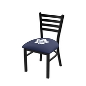 L00418 Black Wrinkle Toronto Maple Leafs Stationary Chair with Ladder Style Back by Holland Bar Stool Co.