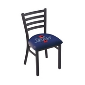 L00418 Black Wrinkle Tulsa Stationary Chair with Ladder Style Back by Holland Bar Stool Co.