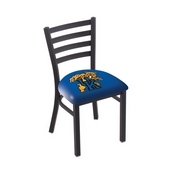 L00418 Black Wrinkle Kentucky Wildcat Stationary Chair with Ladder Style Back by Holland Bar Stool Co.