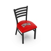 L00418 Black Wrinkle UNLV Stationary Chair with Ladder Style Back by Holland Bar Stool Co.