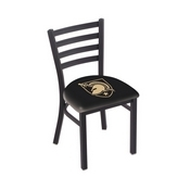 L00418 Black Wrinkle US Military Academy (ARMY) Stationary Chair with Ladder Style Back by Holland Bar Stool Co.